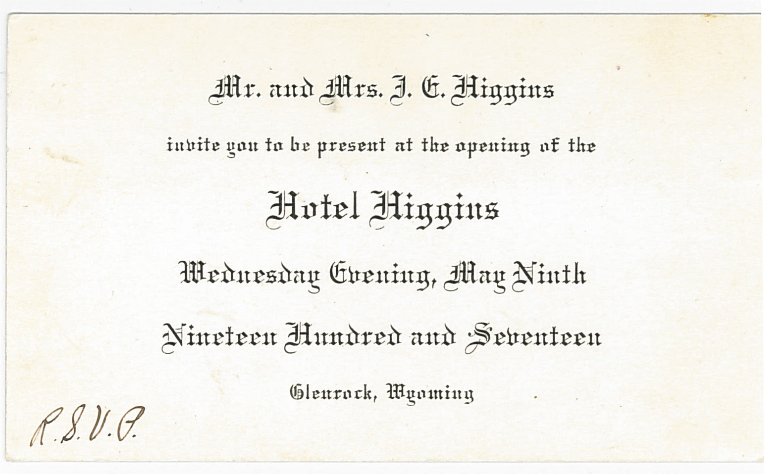 invitation for hotel opening
